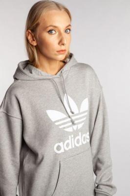 Bluza adidas TRF HOODIE FM3304 MEDIUM GREY HEATHER/WHITE