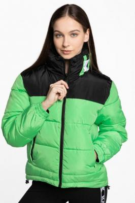 Kurtka Karl Kani KK OG Block Reversible Puffer Jacket green / black 6176249 BLACK/GREEN