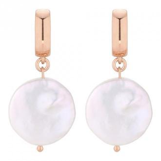 Kolczyki z dużymi płaskimi perłami