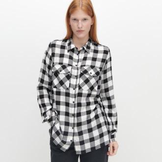 Reserved - Koszula oversize w kratę - Czarny