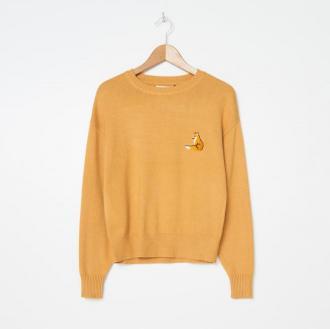 House - Sweter z haftem - Żółty