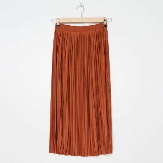 House - Plisowana spódnica - Brązowy