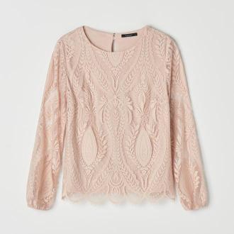 Mohito - Koronkowa bluzka - Różowy