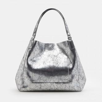 Mohito - Metaliczna torba typu shopper - Srebrny