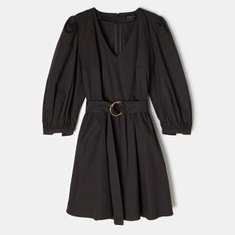 Mohito - Gładka sukienka z bawełną - Czarny