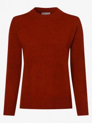 Marie Lund - Damski sweter z wełny merino, pomarańczowy