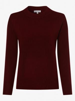 Marie Lund - Damski sweter z wełny merino, czerwony