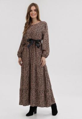 Beżowa Sukienka Bramblefalls