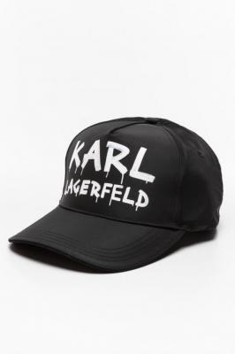 Czapki z daszkiem Karl LAGERFELD Graffiti Logo Cap 206W3412-998 BLACK