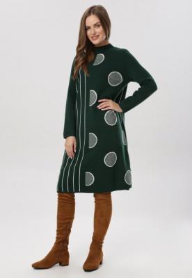 Zielona Sukienka Dzianinowa Wheatgaze