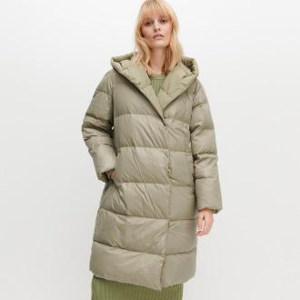 Reserved - Puchowy płaszcz - Zielony