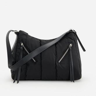 Reserved - Pikowana torebka do ręki - Czarny