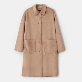 Mohito - Płaszcz z imitacji futra - Brązowy