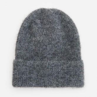 Reserved - Melanżowa czapka z poliestrem z recyklingu - Szary