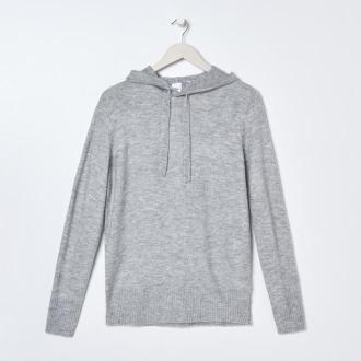 Sinsay - Sweter z kapturem - Jasny szary
