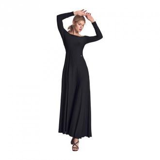 Sukienka maxi z długim rękawem M707