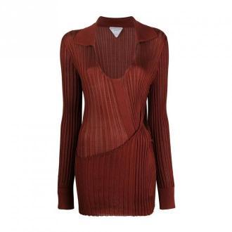 Bottega Veneta Suknie Sukienki Czerwony Dorośli Kobiety Rozmiar: L -