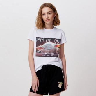 Cropp - Dwuczęściowa piżama The Mandalorian - Biały