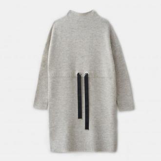 Mohito - Swetrowa sukienka z wiązaniem w talii - Beżowy