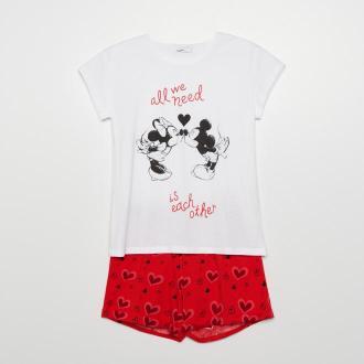 Cropp - Dwuczęściowa piżama Mickey Mouse - Biały