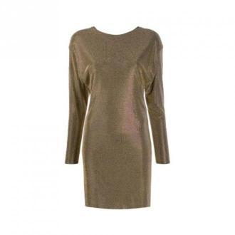 Versace Długa sukienka rękaw Sukienki Brązowy Dorośli Kobiety Rozmiar:
