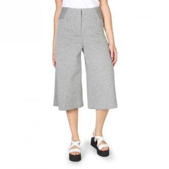 Armani Jeans wide trousers- 3Y5P94_5Jzbz Spodnie Szary Dorośli Kobiety