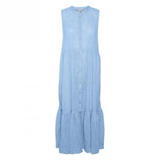Kaffe KAvivian Sukienka Sukienki Niebieski Dorośli Kobiety Rozmiar: XS