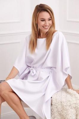 Sukienka oversize biała 0226