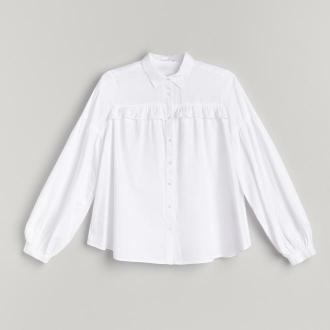 Reserved - Koszula z bufiastami rękawami - Biały