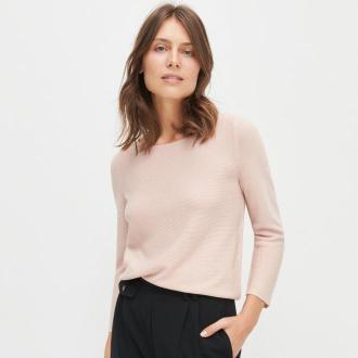 Reserved - Sweter z błyszczącą nitką - Różowy