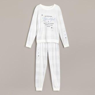 Reserved - Piżama dresowa ze spodniami - Kremowy