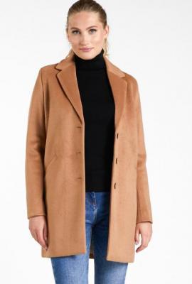 Prosty, wełniany płaszcz