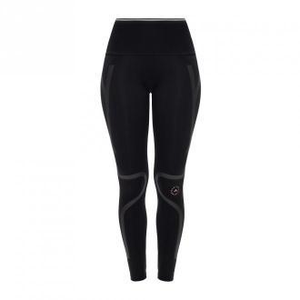 Adidas by Stella McCartney Ażurowe legginsy z logo Spodnie Czarny