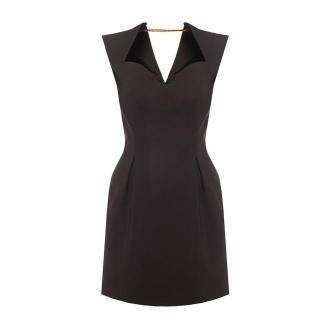Versace Sukienka z łańcuchem Sukienki Czarny Dorośli Kobiety Rozmiar: