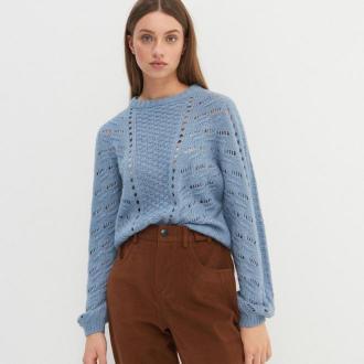 House - Ażurowy sweter - Niebieski