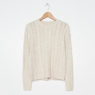 House - Ażurowy sweter - Kremowy