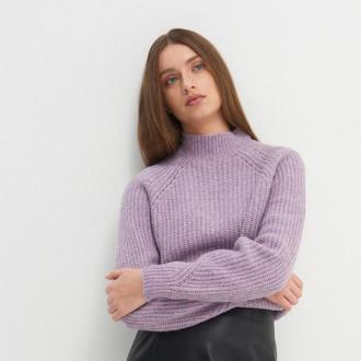 House - Sweter z półgolfem - Fioletowy