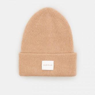 Mohito - Prążkowana czapka z naszywką - Beżowy