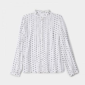 Mohito - Wzorzysta koszula ze stójką - Biały