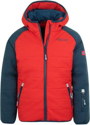 TROLLKIDS Hafjell Pro Kurtka zimowa Dzieci, mystic blue/bright red 140 2020 Kurtki narciarskie
