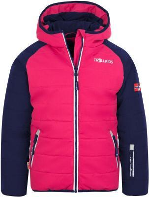 TROLLKIDS Hafjell Pro Kurtka zimowa Dzieci, navy/pink/white 110 2020 Kurtki narciarskie