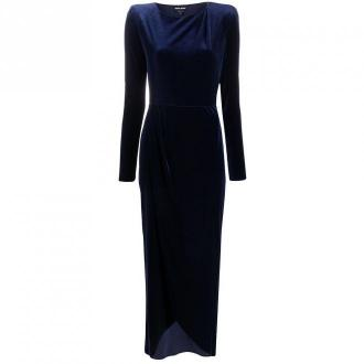 Chenille evening dress w / slit