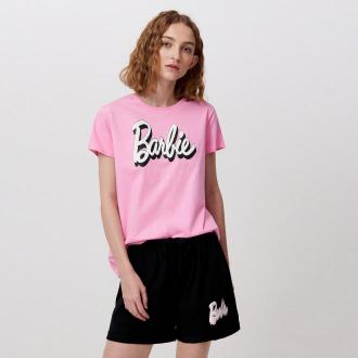 Cropp - Dwuczęściowa piżama Barbie - Różowy