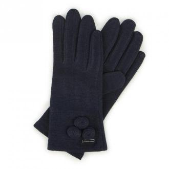 Damskie rękawiczki wełniane z okrągłymi ozdobami