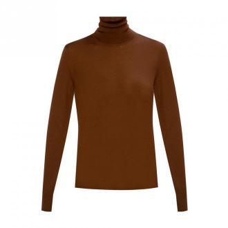Dolce & Gabbana Kaszmirowy sweter Swetry i bluzy Brązowy Dorośli