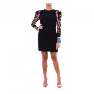 Versace A85048A233265 krótka sukienka Sukienki Czarny Dorośli Kobiety