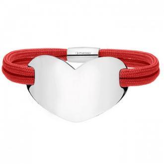 Czerwona damska Bransoletka HEART