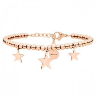 Bransoletka z gwiazdkami, różowe złoto