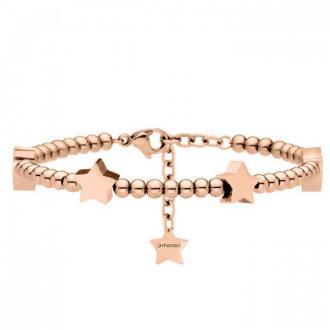 Damska bransoletka z gwiazdkami, różowe złoto