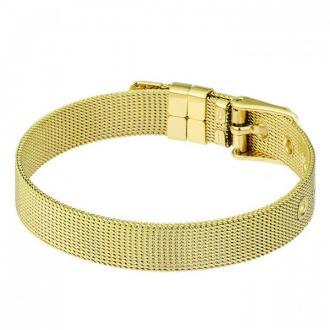 Złota bransoletka damska, regulowana długość